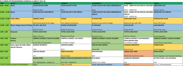 Green_FM_1stSem_Program_Sked
